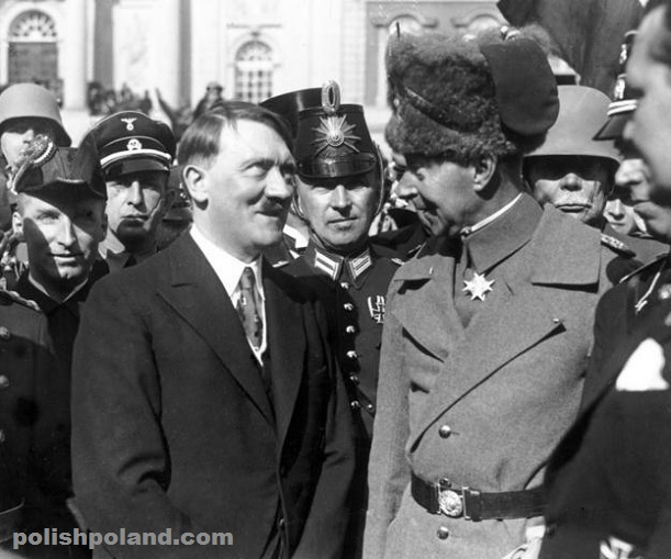 Crown Prince Wilhelm meeting Adolf Hitler in Breslau (Wroclaw) in 1933.