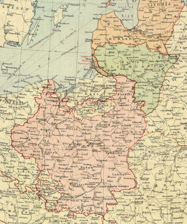 map of poland 1920