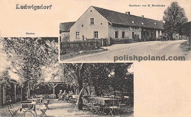 Two more pictures of Bystre (Ludwigsdorf) in the Olesnica (Oels) district of Lower Silesia, c.1909.