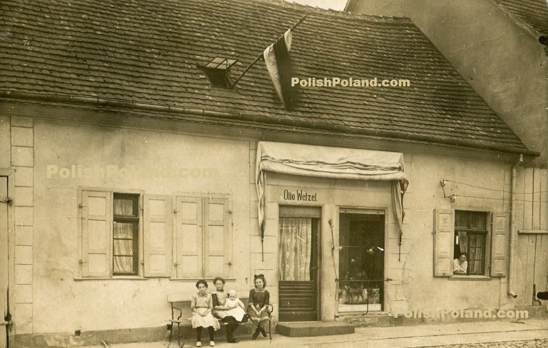A guesthouse in Bärwalde (Mieszkowice) around 1908.