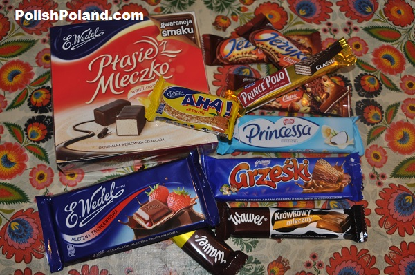 polish chocolates and sweet snacks